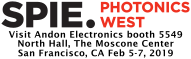 SPIE Photonics West Logo, Booth 5549
